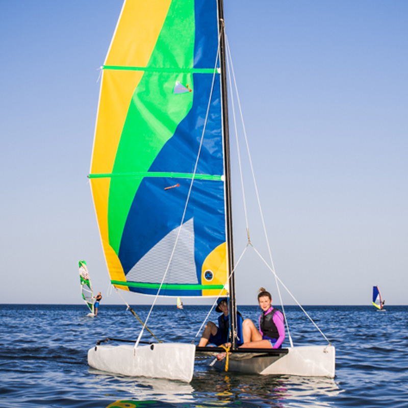 Kids catamaran sailing Cyprus