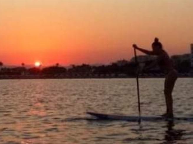 Sunset sup experience Cyprus